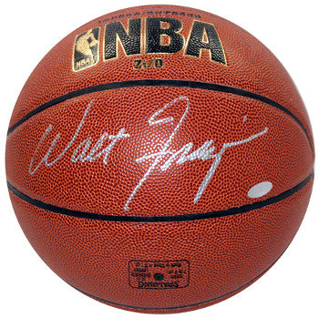 Walt Frazier signed Spalding NBA I/O Basketball (silver sig)- Steiner Hologram (New York Knicks) PSM-Powers Sports Memorabilia