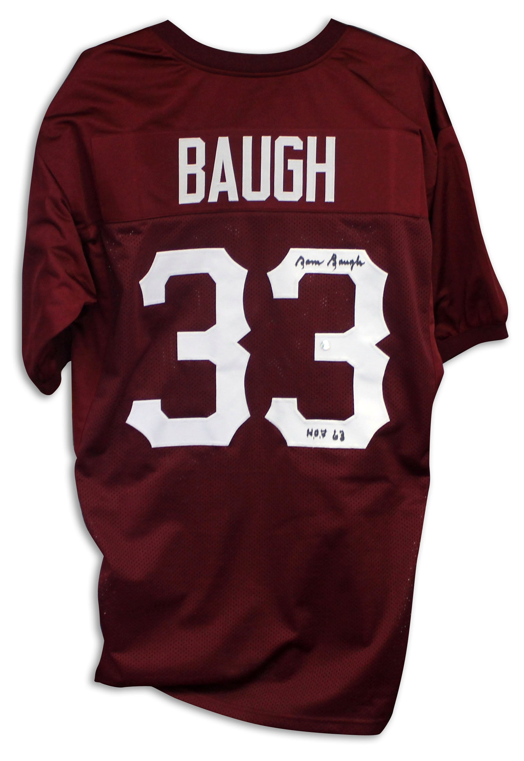 "Sammy Baugh Washington Redskins Autographed Maroon Jersey Inscribed ""HOF 63"" PSM-Powers Sports Memorabilia"