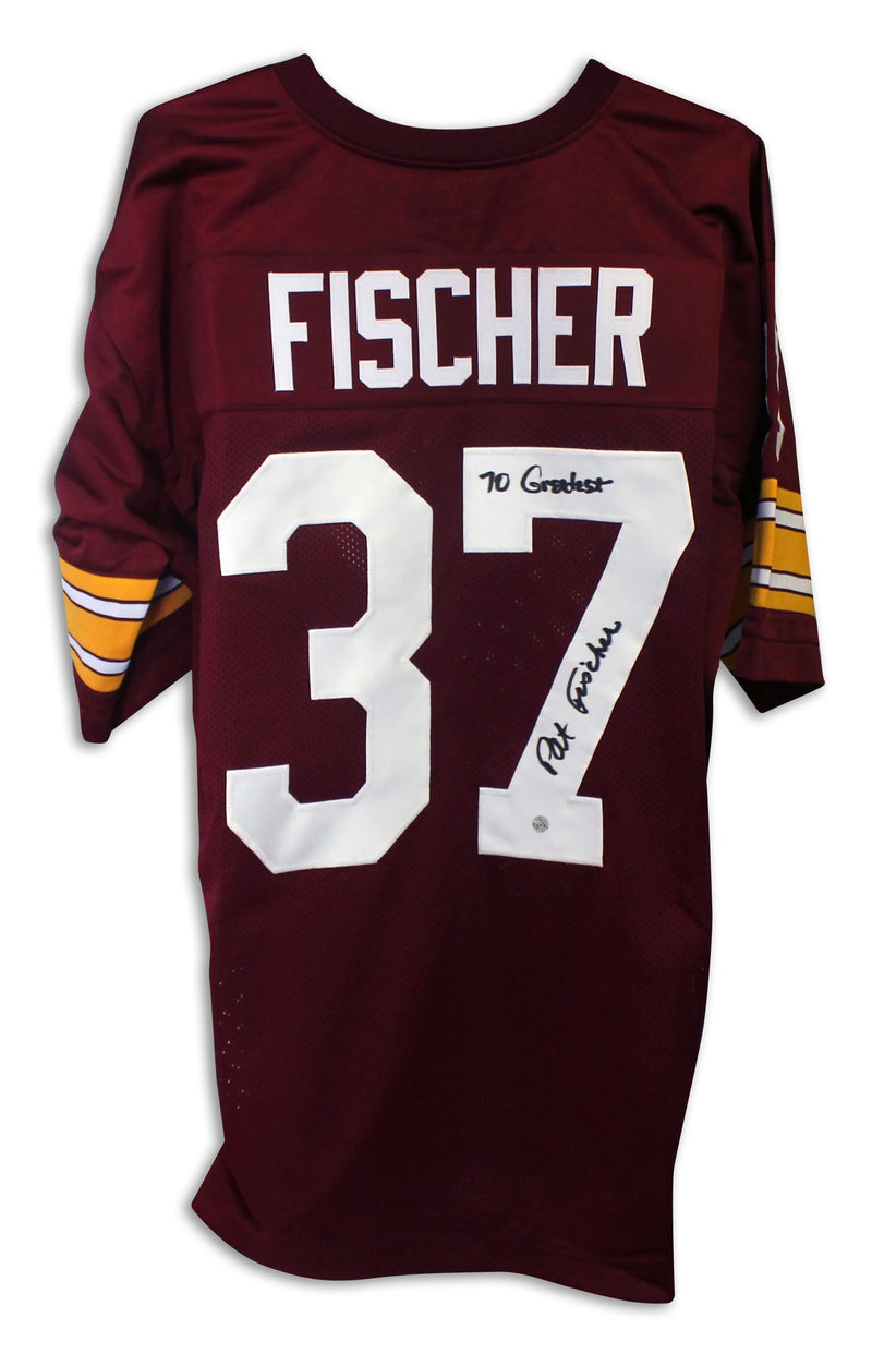 "Pat Fischer Washington Redskins Autographed Red Jersey Inscribed ""70 Greatest"" PSM-Powers Sports Memorabilia"
