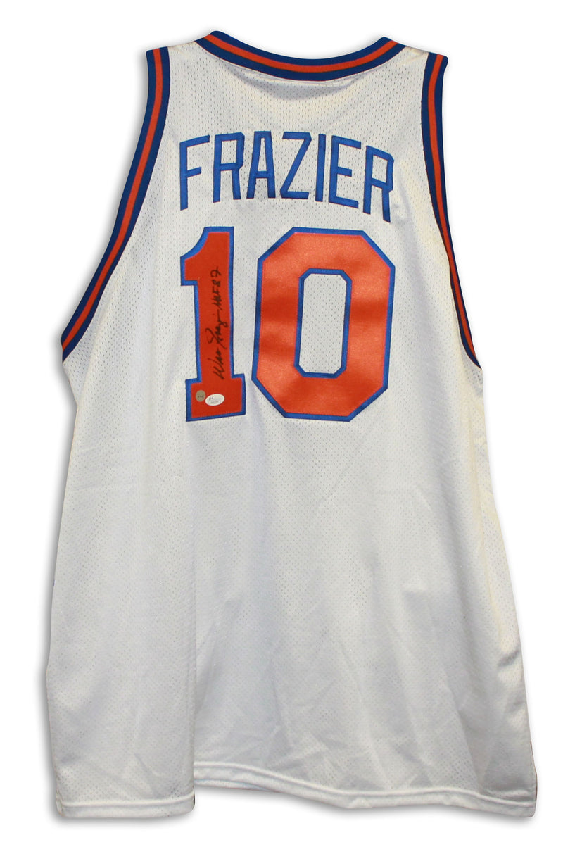 "Walt Frazier New York Knicks Autographed White Throwback Jersey Inscribed ""HOF 87"" PSM-Powers Sports Memorabilia"