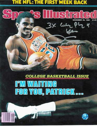 "Autographed Ralph Sampson Virginia Cavaliers 8x10 Photo Inscribed ""3X College Player of the Year"" PSM-Powers Sports Memorabilia"