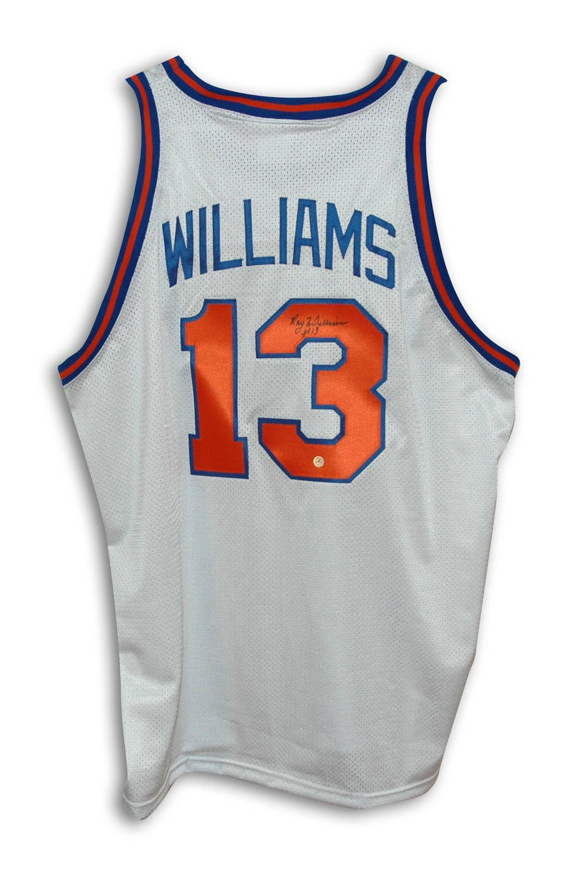 Ray Williams New York Knicks Autographed White Throwback Jersey PSM-Powers Sports Memorabilia