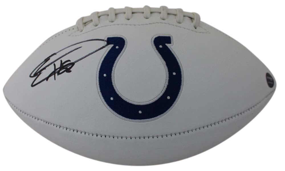 Eric Ebron Autographed/Signed Indianapolis Colts White Logo Football Prova PSM-Powers Sports Memorabilia