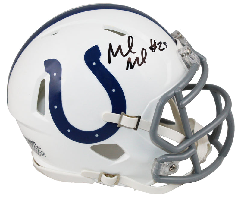 Marlon Mack Signed Indianapolis Colts Riddell Speed Mini Helmet PSM-Powers Sports Memorabilia