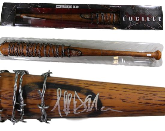 Jeffrey Dean Morgan Negan Autographed Walking Dead Lucile McFarlene Bat JSA PSM-Powers Sports Memorabilia