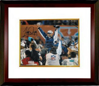 Tony Dungy signed Indianapolis Colts 8x10 Photo SB XLI Carryoff Custom Framed- Steiner Hologram PSM-Powers Sports Memorabilia