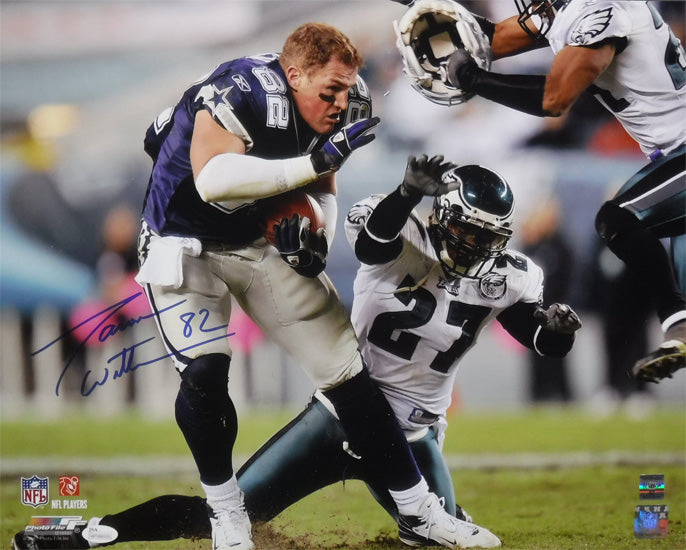 Jason Witten Autographed Dallas Cowboys 16x20 Photo (Helmet Off) JSA PSM-Powers Sports Memorabilia
