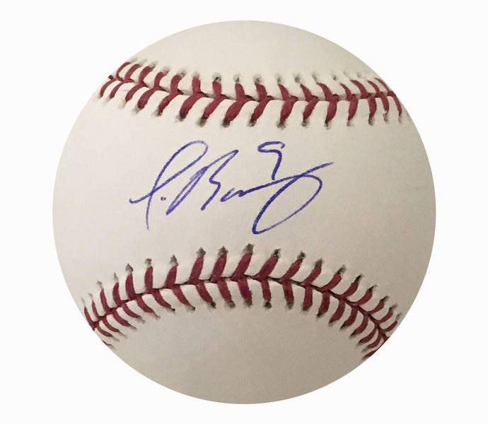Javier Baez Chicago Cubs Autographed MLB Authentic Signed Baseball PSA DNA COA-Powers Sports Memorabilia