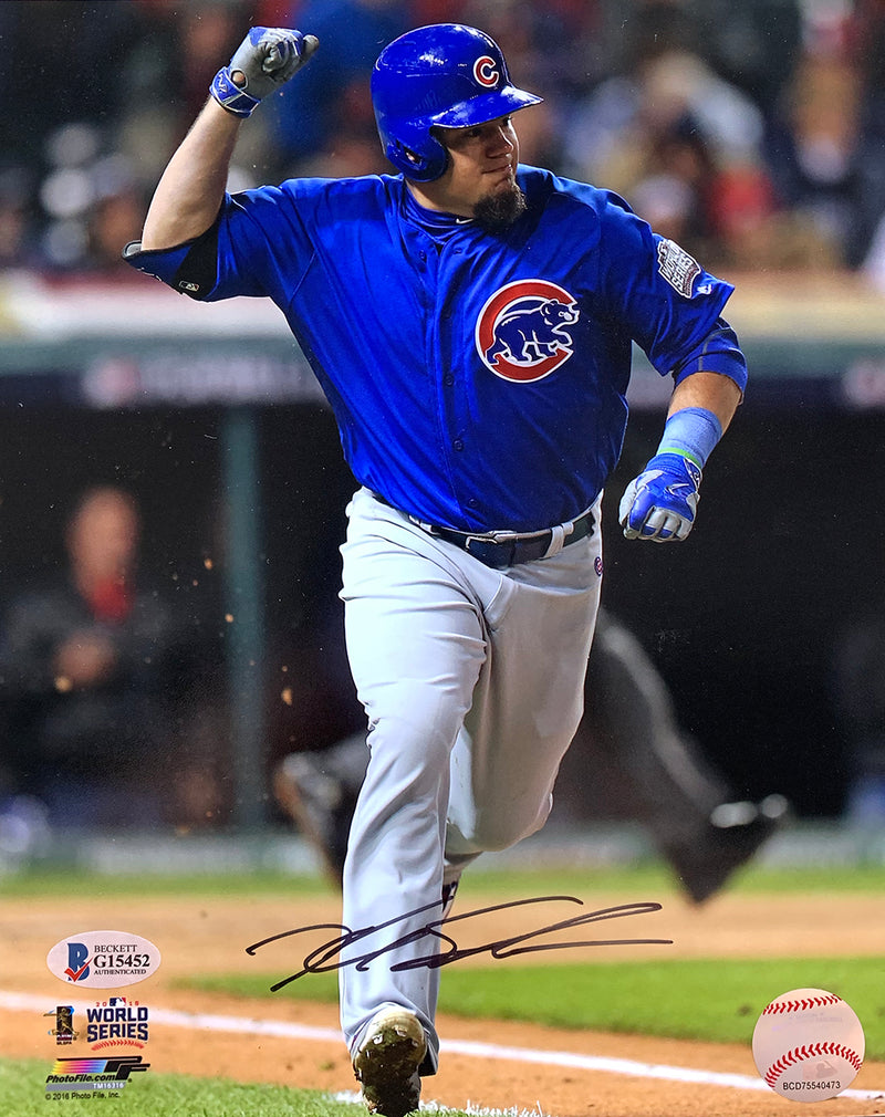 Kyle Schwarber Signed 8x10 Chicago Cubs Photo BAS PSM-Powers Sports Memorabilia