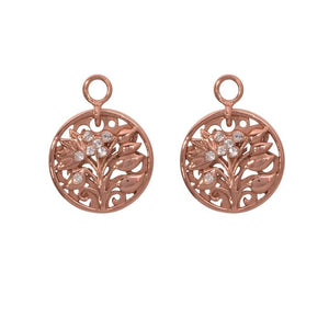 Nikki Lissoni - Fantasy Tree Rose Gold Plate 14mm Earring