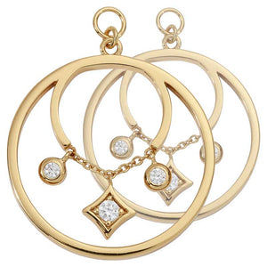 Nikki Lissoni - Elegance G/P 23mm Earring