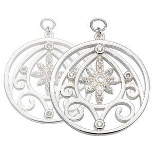Nikki Lissoni - Catching Stars Silver Plated 23mm Earring
