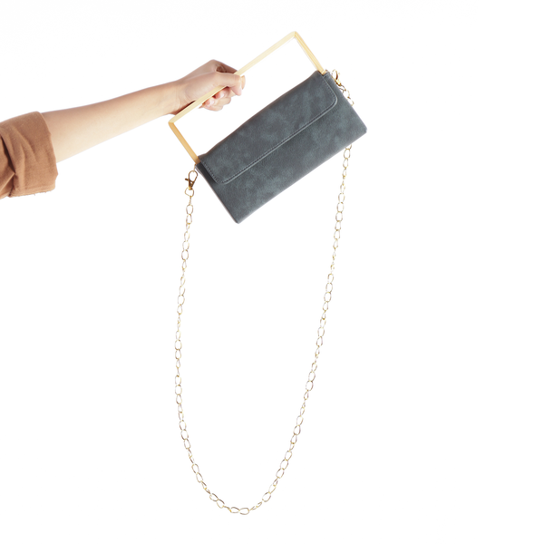 Wooden Clutch Bag Ministry Black - Kayane