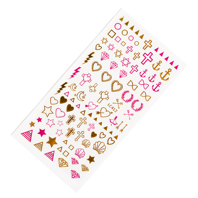 Cross nail stickers