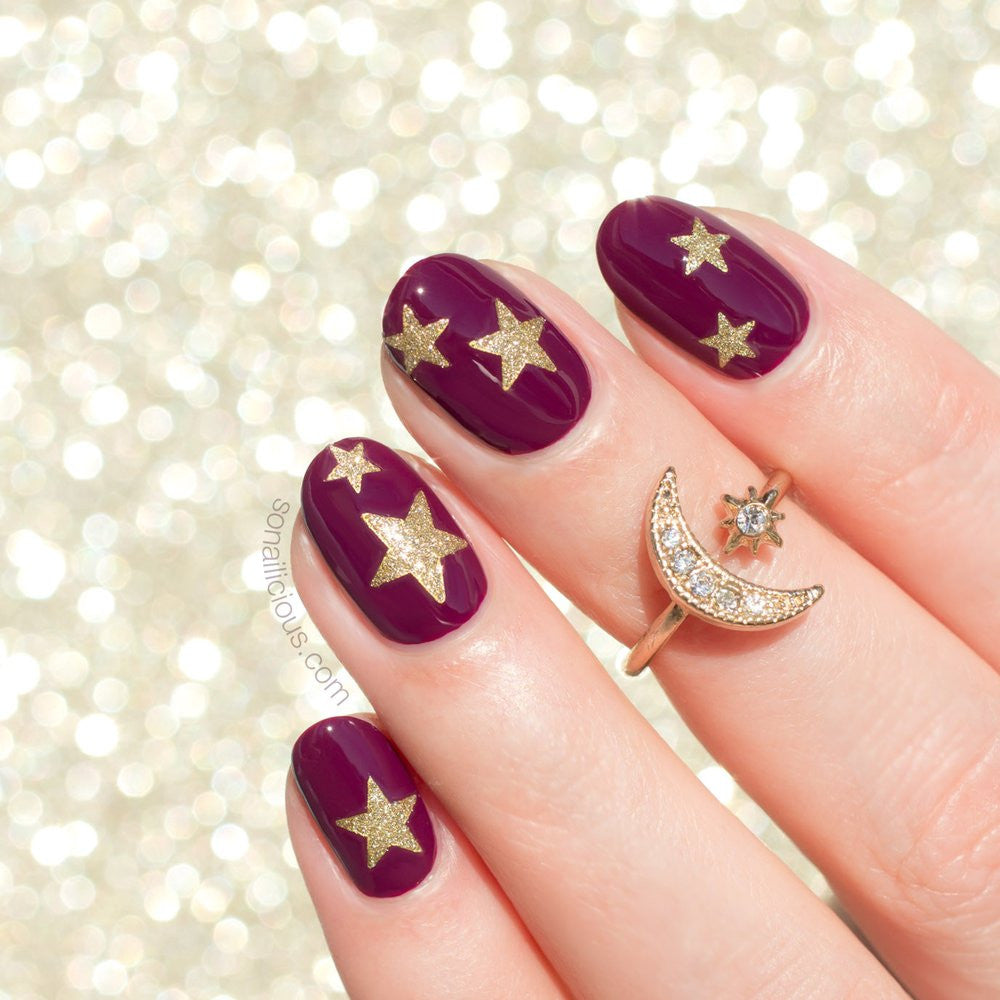 Easy starry nails