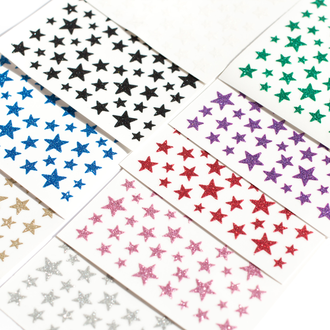 Glitter star self-adhesive nail stickers