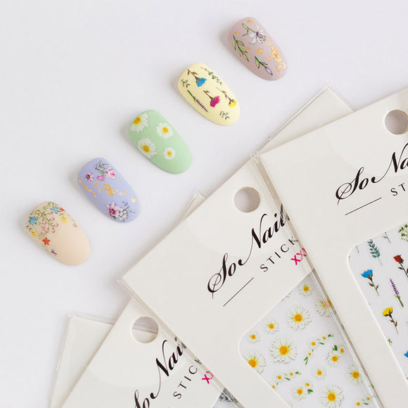 All-In-One FLORAL RHAPSODY Nail Sticker Set - SAVE $40 - ONLY 2 LEFT!