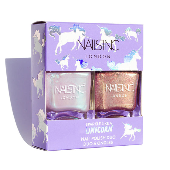 Nails inc Sparkle Like a Unicorn nail polish duo