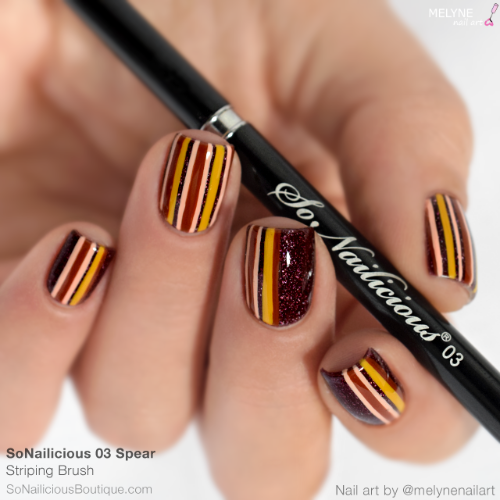 The best nail art brush for striping nail art