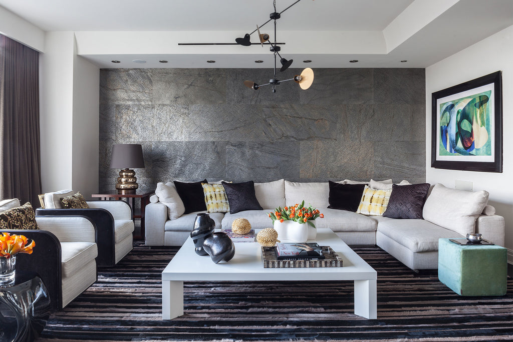 Interior Design Installation by Patrick Sutton | Jet Stream Rug