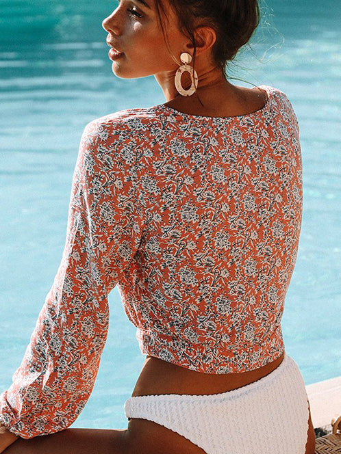 Makin Waves Boho Print Crop Top