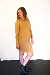 THE MAJESTY LONG-SLEEVE CREW DRESS