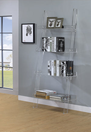 Acrylic Ladder 4-Shelf Bookcase - canales-furniture