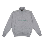 pizzaskateboards logo champion 1 4 zip heather pizza skateboards grey TheDrop
