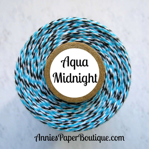 Aqua, white, and black Trendy Bakers Twine