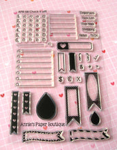 Planner Stamps - Checklists, Check Boxes, Flags, Lines
