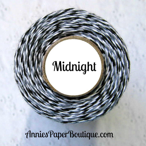 Midnight Trendy Bakers Twine - Black, Gray, & White - Grey