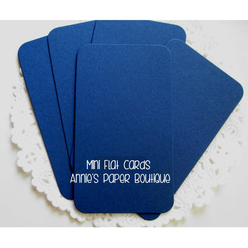 Navy Mini Flat Cards