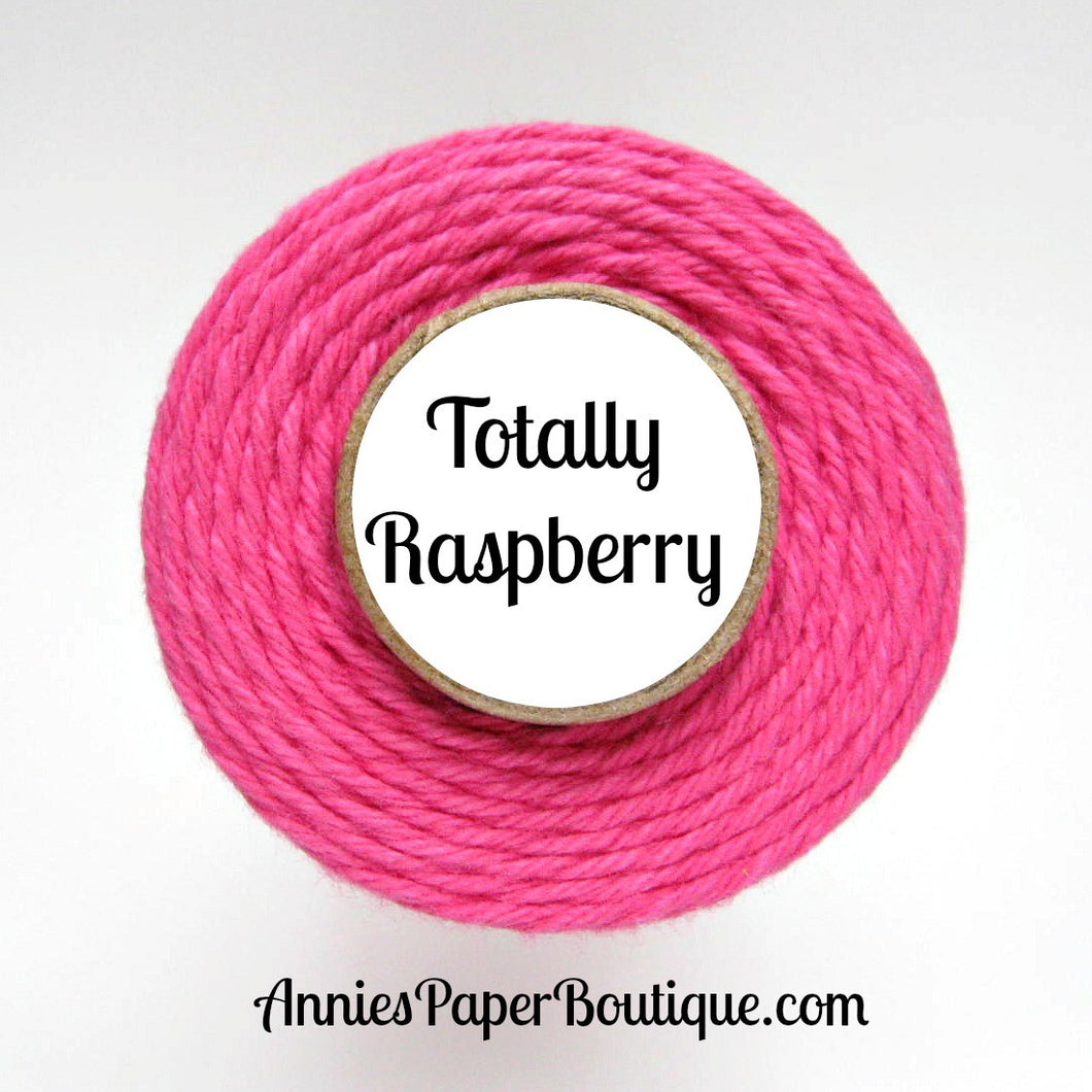 Totally Raspberry Trendy Bakers Twine - Solid Dark Pink