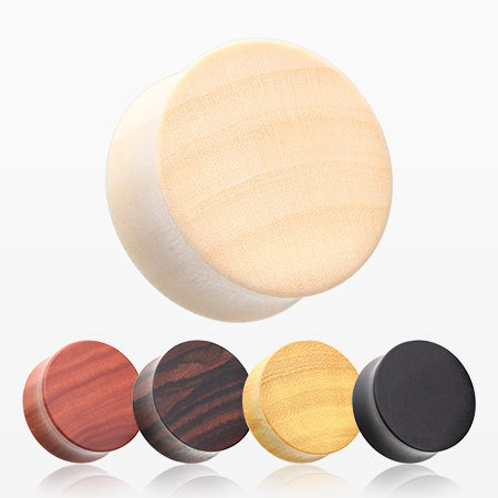 5 Pairs Pack of Balimade Wood Basic Double Flared Plugs-Assorted