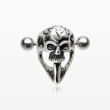 Death Skull Mask Cartilage Cuff Earring