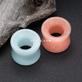 A Pair of Glow in the Dark Synthetic Stone Double Flared Tunnel Plug-Blue