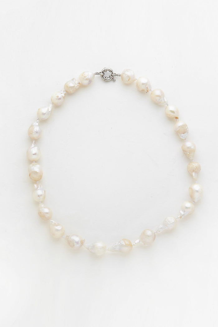 RELIQUIA JEWELLERY | KESHI STRAND PEARL NECKLACE - WHITE
