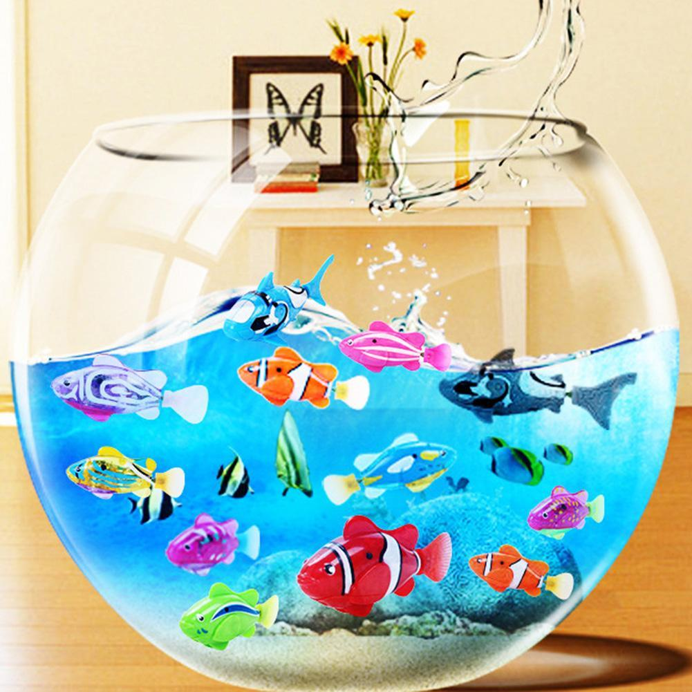 Swim Electronic Battery Powered Fish Toy Interactive Toys Robotic Pet for Kid Bathing Fishing Tank Decorating Act Like Real Fish - Ball Earrings General Store