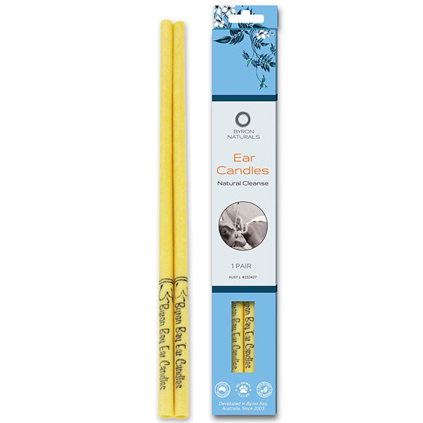BYRON BAY DETOX Organic Beeswax Ear Candles & Muslin Cotton 2 pack