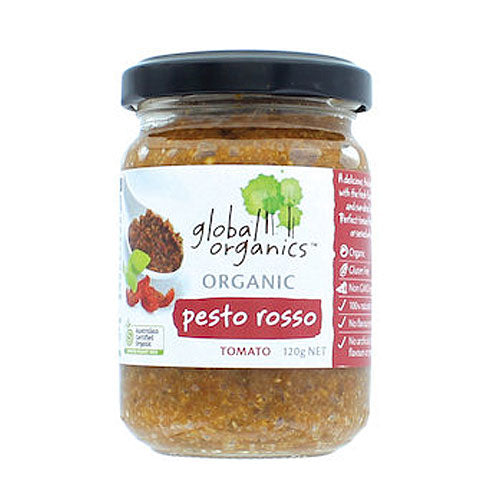GLOBAL ORAGNICS Organic Pesto Rosso 120g