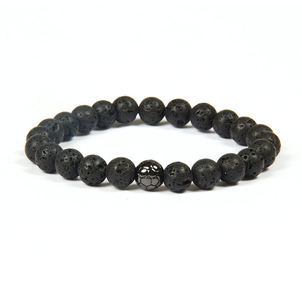 Soccer Bracelets - Lava Stone - Galaxy Accessories
