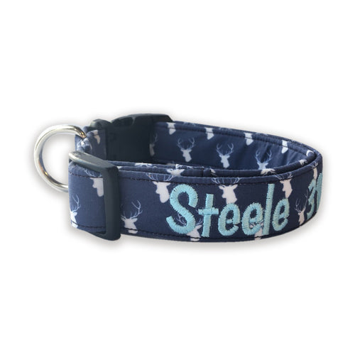 Navy Stag Collar