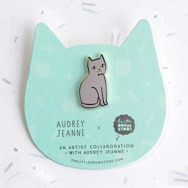 Audrey Jeanne Pin – Grey Cat