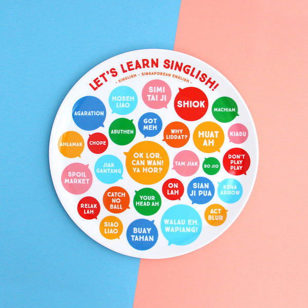 10 Inch Plate - Let's learn Singlish