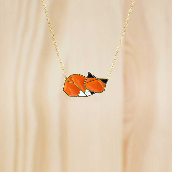 Hug A Porcupine Necklace – Woodland Fox Sleeping