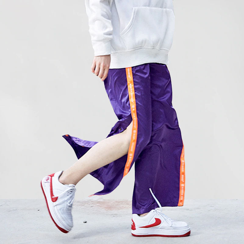 Side Letter Button Detachable Harem Jogger Pant - simplifybox
