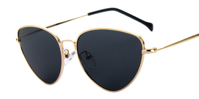 Coating Mirror Steampunk Retro Cat Eye Sunglasses - simplifybox