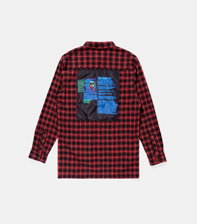 True Prototype Oversized Check Long Sleeve Casual Shirt - simplifybox