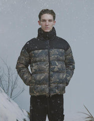 Camouflage White Duck Down Jacket Coat - simplifybox