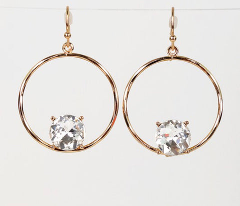 Circle hook earrings 1 inch